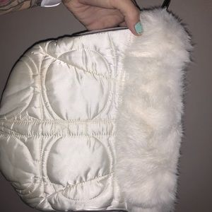 Coach bag with fur